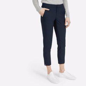 Everlane Slim Wool Crop Trousers Pants Black Sz 8